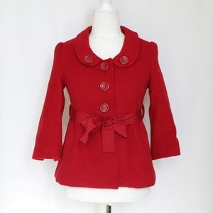 Forever 21 Red Peacoat Belt Tie  Size Small